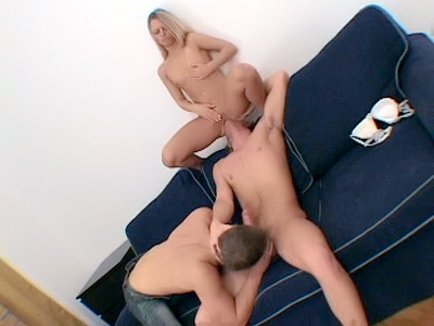 Sabrina Shares a Cock with Two Bi Men